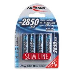 Bộ 4 pin sạc Ansmann AA 2850mAh – Slimline US