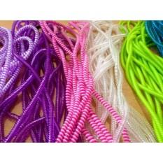 Giá Bộ 5 dây quấn cáp sạc tai nghe chống đứt chống rối (Loại dây 2 màu mới)