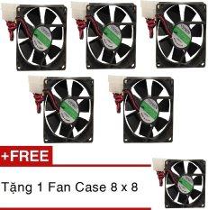 Bộ 5 quạt tản nhiệt Case 8×8 + Tặng 1 quạt case 8×8 (đen)