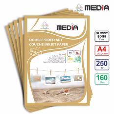 Bộ 5 Xấp Giấy In Ảnh Media 2 Mặt Bóng (Glossy) A4 (21 x 29.7cm) 160gsm 50 tờ x 5 – Hàng Nhập Khẩu