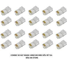Bộ 50 hạt mạng RJ45 chuẩn 1000/100Mbs