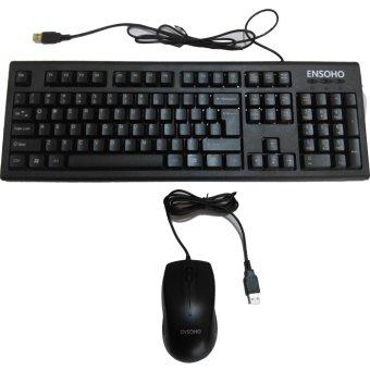 Bộ bàn phím chuột có dây Ensoho E-103CB (Đen)