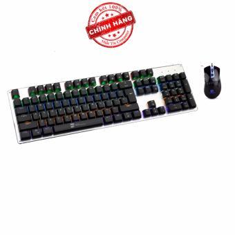 Bộ bàn phím cơ và chuột LED chơi Game R8 G100 - MORZZOR MZ-05 (Đen)