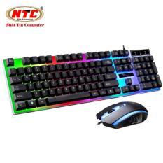 Bộ bàn phím giả cơ và chuột game dành cho game thủ NTC G21 led đa màu (Đen)