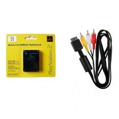 Bộ Card Save 8MB và Dây Cáp AV Video cho máy Playstation 2