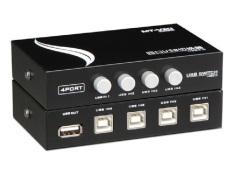 Bộ chia 4 máy tính dùng chung 1 máy in Switch USB MT-VIKI (Đen)