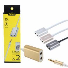 Bộ chia cổng Audio 3.5 Aux Remax 1 thành 2 đầu 3.5 (dài 30 cm)