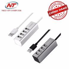 Bộ chia cổng USB Hoco HB1 – 4 cổng USB (Bạc) – Hãng phân phối chính thức – Nhất Tín Computer