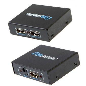 Bộ chia màn hình HDMI Splitter 1 ra 2 chuẩn 1.4 (Đen)