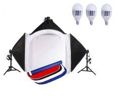 Bộ chụp sản phẩm softbox 80x80x80 cm + đèn led 18 W
