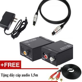 Bộ chuyển âm thanh TV 4K quang optical sang audio AV ra amply + Cápoptical 1.m
