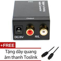Bộ chuyển âm thanh TV optical to audio AV ra của amply + Cáp quang Optical Digital 1m