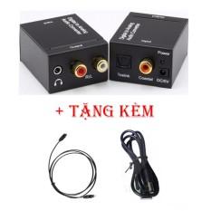 Bộ chuyển đổi âm thanh Digital ( Optical từ Smart Tivi ) to Ânalog ( R/L , 3.5mm ) Loa , Amply siêu bass V2