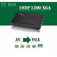 Bộ chuyển đổi AV sang VGA (Tivi box cho màn hình LCD, CRT Gadmei TV2810 (màu đen)