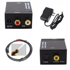 Bộ chuyển đổi Converter Quang sang âm thanh Toslink Coaxial to Audio R/F + tặng Cáp quang âm thanh Toslink Optical 1.5m