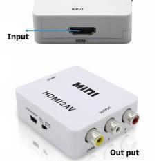 Hộp chuyển tín hiệu HDMI to AV có chip chuyển cho Android box ra tivi cổng hoa sen (Trắng)