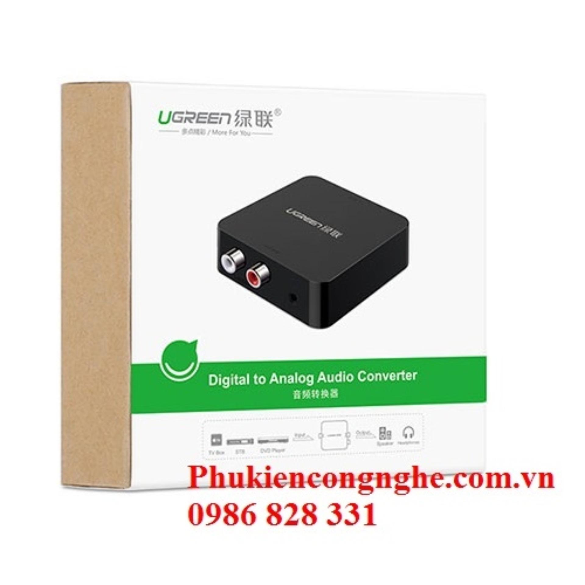Giá KM Bộ chuyển đổi Quang sang Audio Ugreen UG-30910 (Quang to AV)