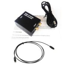 Bộ chuyển đổi tín hiệu âm thanh Optical sang Loa, amply ( R/L ) – Tặng cáp nguồn và dây quang
