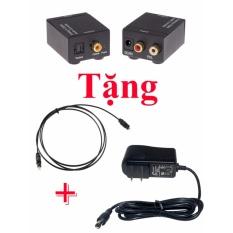 Bộ chuyển đổi tín hiệu âm thanh tivi 4k optical sang loa , amply tặng kèm dây quang và nguồn