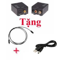 Bộ chuyển đổi tín hiệu Optical sang AV (dùng cho Amply, Tivi, Androidbox) + tặng nguồn USB, dây optical