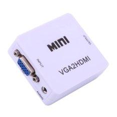 Bộ chuyển đổi tín hiệu từ VGA sang HDMI VGA to HDMI converter (Trắng/Đen)