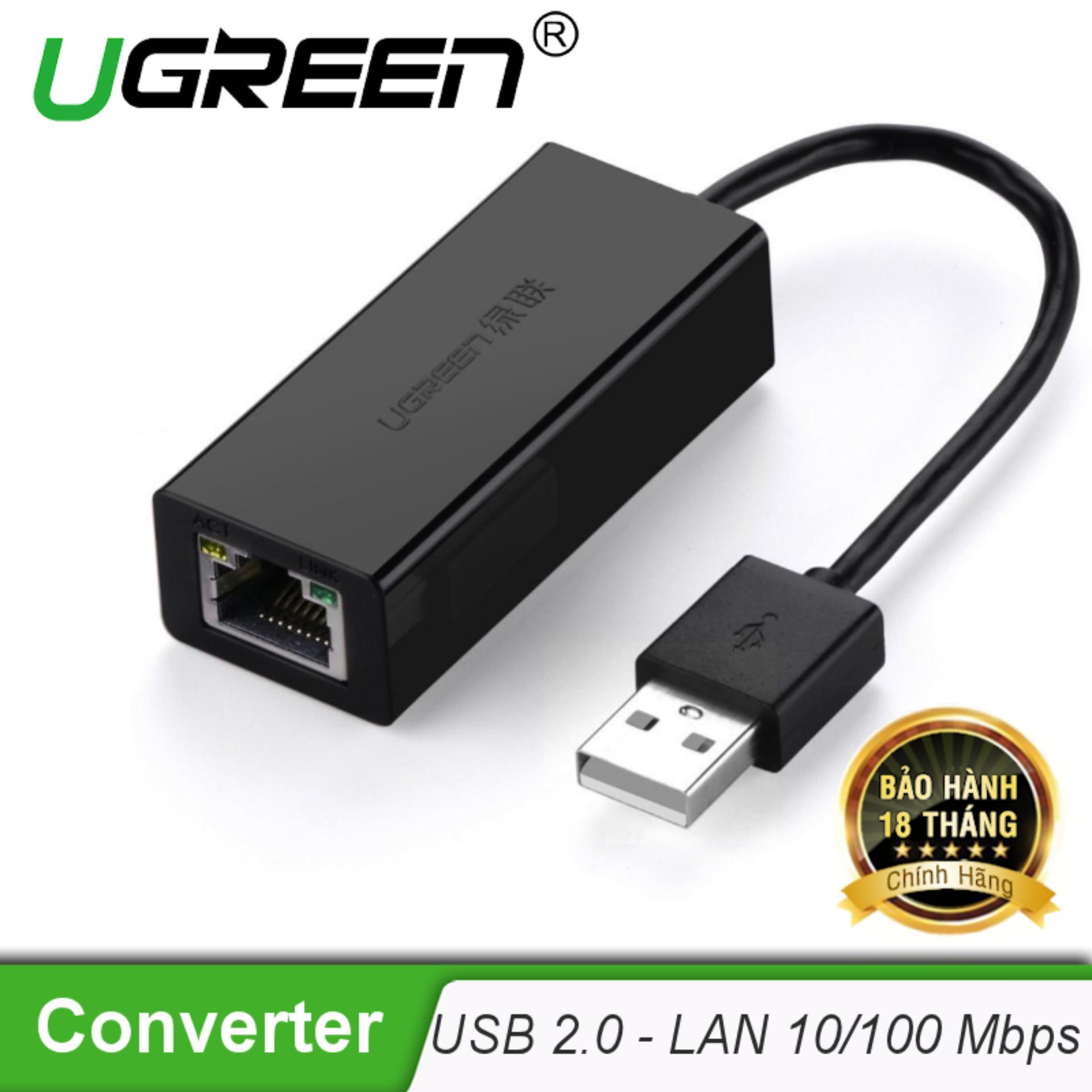 Bộ chuyển đổi USB 2.0 sang LAN 10/100 Mbps CR110 20254 – Hãng phân phối chính thức