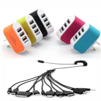 Bộ Cốc sạc điện thoại đa năng 3 cổng USB + Cáp sạc - 8189013 , HO736ELAA33ESCVNAMZ-5389650 , 224_HO736ELAA33ESCVNAMZ-5389650 , 110000 , Bo-Coc-sac-dien-thoai-da-nang-3-cong-USB-Cap-sac-224_HO736ELAA33ESCVNAMZ-5389650 , lazada.vn , Bộ Cốc sạc điện thoại đa năng 3 cổng USB + Cáp sạc