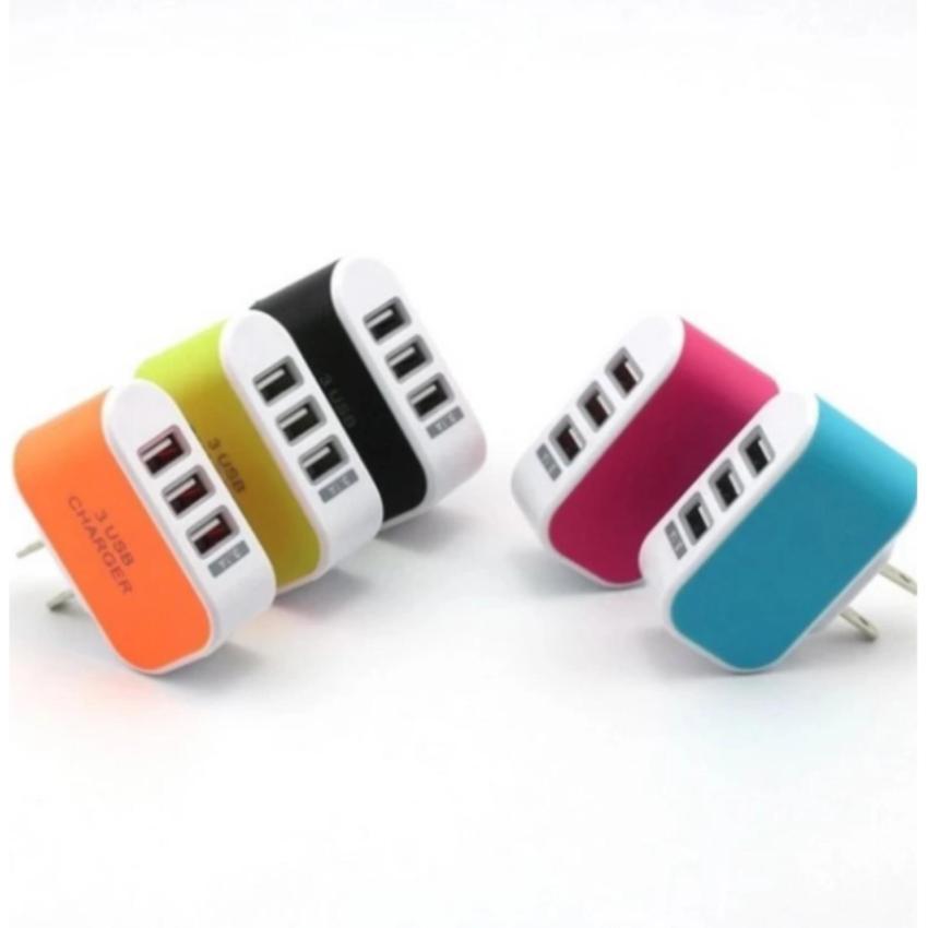 Hình ảnh Bộ Cốc sạc điện thoại đa năng 3 cổng USB nhiều màu