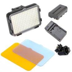 Bộ đèn LED quay phim SHOOT HD160 và pin sạc (Đen).