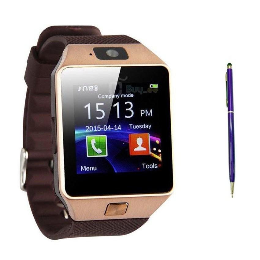 Hình ảnh Bộ đồng hồ thông minh Smartwatch DZ09 (Vàng) và bút cảm ứng