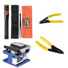 Bộ dụng cụ làm cáp cao cấp Bút soi quang 10km + Dao cắt quang FC-6S + Kìm tuốt sợi quang CFS-3
