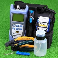 Bộ dụng cụ thi công quang 9 sản phẩm kèm FC-6S + VFL 10km + Máy đo công suất quang