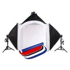 Bộ hộp chụp sản phẩm Studio Box 80x80x80cm + 3 đèn LED 18W