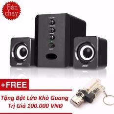 [Miễn phí ship] Bộ Loa Máy Tính USB SADA D-202 + Tặng Quà Guang