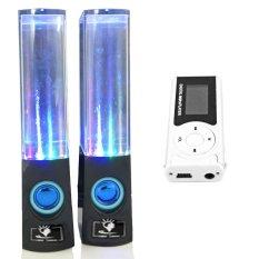 Bộ Loa nhạc nước 3D (Đen) + Máy nghe nhạc MP3 LCD dài (Bạc) Gia Khang Phát Combo95