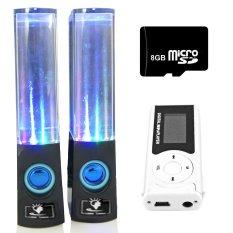 Bộ Loa nhạc nước 3D (Đen) + Máy nghe nhạc MP3 LCD dài (Bạc) + Thẻ nhớ 8GB Gia Khang Phát Combo107