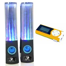 Bộ Loa nhạc nước 3D (Đen) + Máy nghe nhạc MP3 LCD dài (Cam)PeepVN Combo96