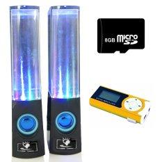 Bộ Loa nhạc nước 3D (Đen) + Máy nghe nhạc MP3 LCD dài (Cam) + Thẻ nhớ 8GB PeepVN Combo108
