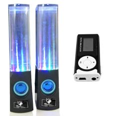 Bộ Loa nhạc nước 3D (Đen) + Máy nghe nhạc MP3 LCD dài (Đen) PeepVN Combo100