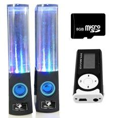 Bộ Loa nhạc nước 3D (Đen) + Máy nghe nhạc MP3 LCD dài (Đen) + Thẻ nhớ 8GB Gia Khang Phát Combo112