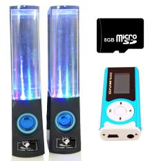 Bộ Loa nhạc nước 3D (Đen) + Máy nghe nhạc MP3 LCD dài (Xanh dương) + Thẻ nhớ 8GB PeepVN Combo111