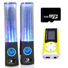 Bộ loa nhạc nước 3D (Đen) + Máy nghe nhạc MP3 LCD dài (Xanh lá) + Thẻ nhớ 8GB PeepVN Combo110