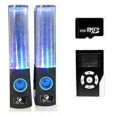 Bộ loa nhạc nước 3D (Đen) + Máy nghe nhạc MP3 LCD vuông (Đen) + Thẻ nhớ MicroSD 8GB Gia Khang Phát Combo39