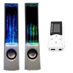 Bộ Loa nhạc nước 3D (Trắng) + Máy nghe nhạc MP3 LCD dài (Bạc) Gia Khang Phát Combo101