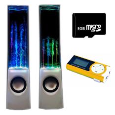 Bộ Loa nhạc nước 3D (Trắng) + Máy nghe nhạc MP3 LCD dài (Cam) + Thẻ nhớ 8GB PeepVN Combo114