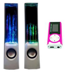 Bộ Loa nhạc nước 3D (Trắng) + Máy nghe nhạc MP3 LCD dài (Hồng) PeepVN Combo103