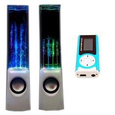 Bộ Loa nhạc nước 3D (Trắng) + Máy nghe nhạc MP3 LCD dài (Xanh dương) PeepVN Combo105
