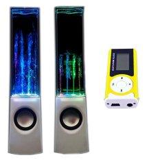 Bộ Loa nhạc nước 3D (Trắng) + Máy nghe nhạc MP3 LCD dài (Xanh lá) PeepVN Combo104