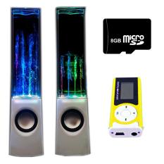 Bộ Loa nhạc nước 3D (Trắng) + Máy nghe nhạc MP3 LCD dài (Xanh lá) + Thẻ nhớ 8GB PeepVN Combo116