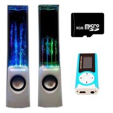 Bộ Loa nhạc nước 3D (Trắng) + Máy nghe nhạc MP3 LCD dài (Xanh dương) + Thẻ nhớ 8GB Gia Khang Phát Combo117